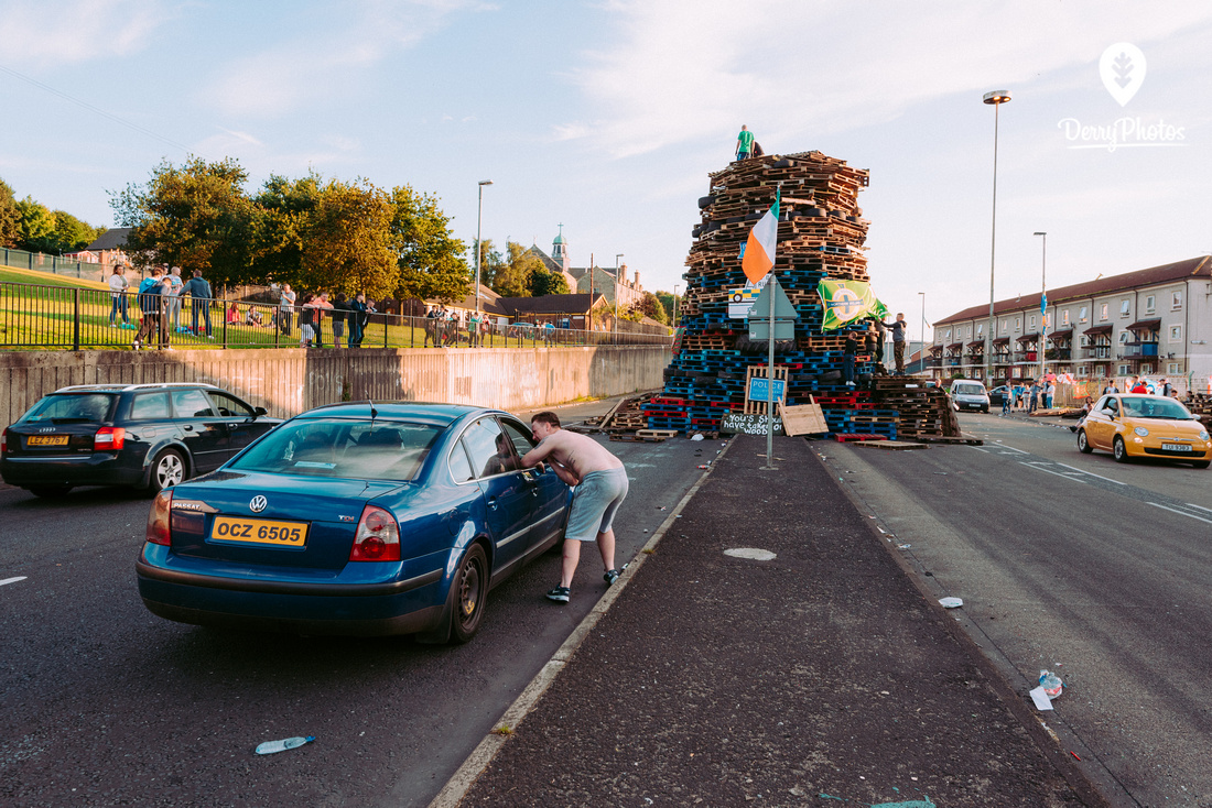 Bogside Bonfire 2016 - Winner Sony World Photography awards 2017 - Bernard Ward - National Awards Ireland