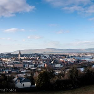 Derry City on the banks of the river Foyle