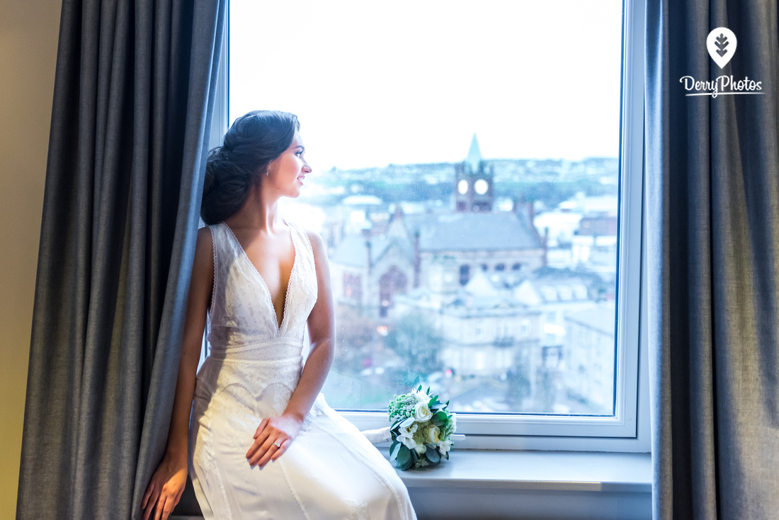 Bridal and lifestyle wedding photography in city hotel derry with miss ireland Lauran mcDonagh