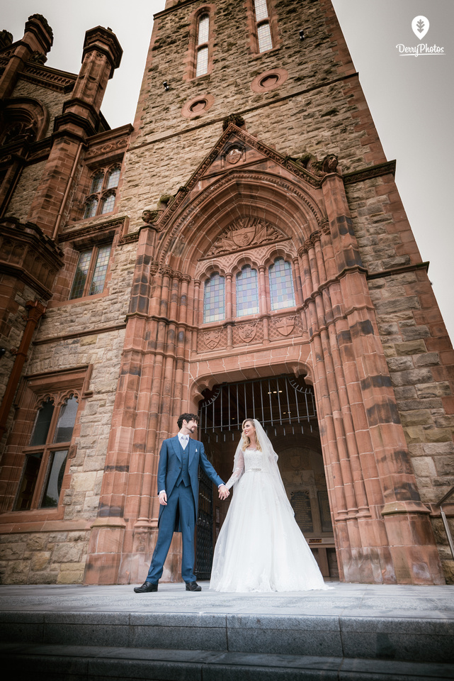 Editorial wedding shoot - Derry Guildhall wedding campaign 2016