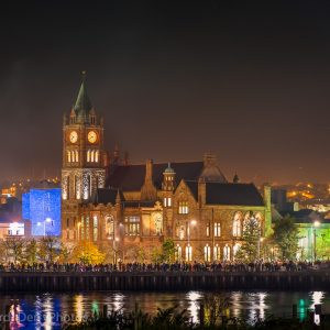 The Guildhall on the banks of the River Foyle