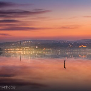 sunset on the river foyle