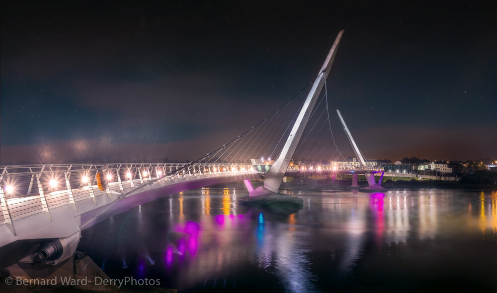 pictures of the peace bridge in derry