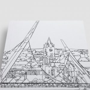 Peace Bridge and River Foyle Derry Londonderry Colouring Page