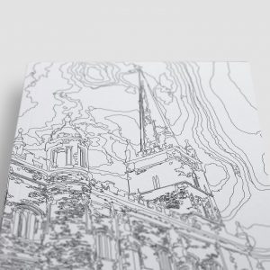 St Columb's Cathedral Derry Londonderry Colouring Page