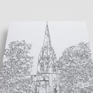 St Eugene's Cathedral Derry Colouring Page