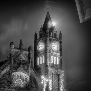 The Guildhall Derry - Black and white print