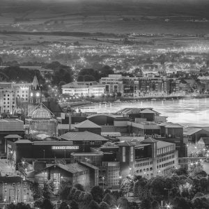 Derry City Print in Black and White