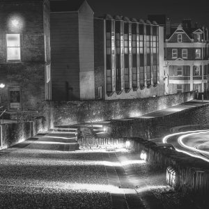 Derry Walls - Black and white print